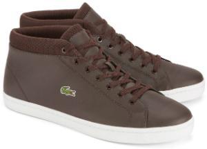 Braune Sneaker im typischen Retro-Look von Lacoste in Uebergroesse