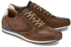 Braune Sneaker mit Zick-Zack-Sohle in Groesse 50