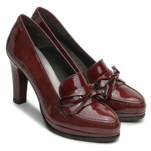 High Heel Trotteur Schuhe fuer Damen Lackleder Plateau Bordeaux