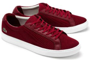 Rote Sneaker von Lacoste in Uebergroessen