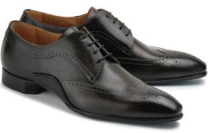 Edler Leder-Schnürschuh in Übergröße | Rossaro