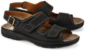 Schwarze Jomos Sandalen aus Leder in Groesse 50