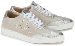 Sneaker in Uebergroessen Silber Beige 2048-17