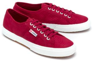 Superga Sneaker in Uebergroessen Bordeaux 5513-17