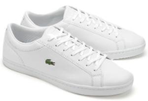 Weisse Sneaker mit gepolstertem Schaftrand von Lacoste in Uebergroessen