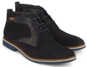 Lloyd Schnuer-Boots mit Kontrast-Details in Uebergroessen fuer Herren Blau