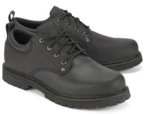 Schwarzer Skechers Schnürer aus Leder | Übergröße