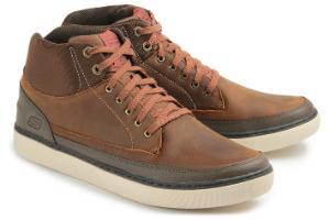 Brauner Skechers Sneaker aus Nabukleder
