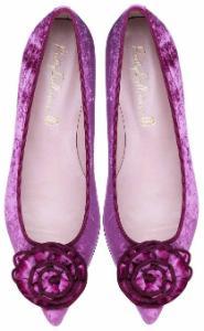 Pretty Ballerinas Slipper in Uebergroessen mit farblich abgestimmter Borduere Pink