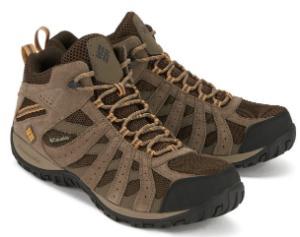 Trekkingschuhe in Uebergroesse von Columbia Sportswear aus Wildleder und atmungsaktiven Mesh-Einsaetzen Beige