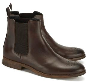 Charmante Winter Chelsea Boots fuer Damen in Uebergroesse Braun