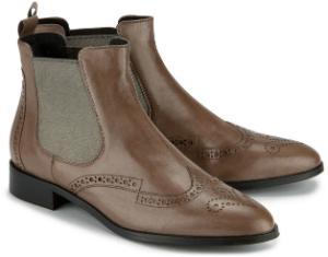 Chelsea-Boots in italienischer Verarbeitung Uebergroessen Beige