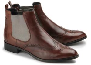Chelsea-Boots in italienischer Verarbeitung Uebergroessen Braun