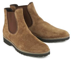 Dezente Winter Chelsea Boots fuer Damen in Uebergroesse Braun