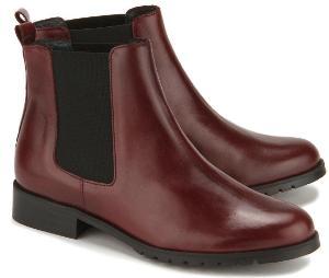 Farbstarke Winter Chelsea Boots fuer Damen in Uebergroesse Rost-Rot