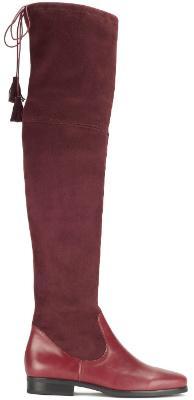 Overknee Stiefel in Uebergroessen Groesse 43 Bordeaux Bariello Milano