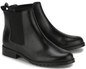 Unkomplizierte Winter Chelsea Boots fuer Damen in Uebergroesse Schwarz