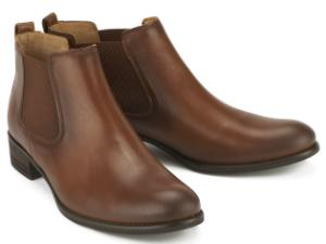 Zeitlose Winter Chelsea Boots fuer Damen in Uebergroesse Braun