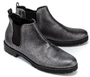 Homers Chelsea Boots in Uebergroessen Silber