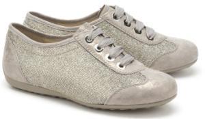 Semler Sneaker in G-Weite mit glitzernden Lurexfaeden Uebergroessen Metallic