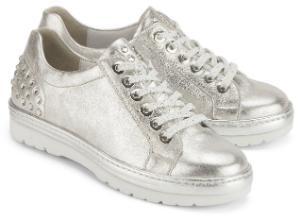 Semler Sneaker in Weite G mit kristallfarbenen Strasssteinen besetzte Ferse Uebergroessen Silber
