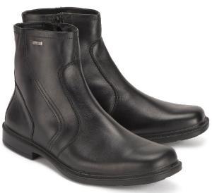 Jomos Boots Herren Stiefeletten Uebergroesse schwarz Weite H warmgefuettert