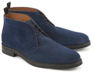 Schnuer-Boots schmale Silhouette in Untergroessen Blau