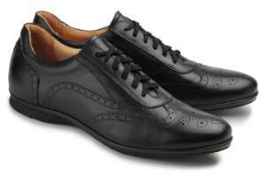 Sneaker aus weichem Glattleder in Untergroessen Schwarz