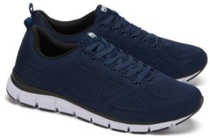 Blaue Boras Sneaker aus Mesh in Uebergroessen fuer Herren