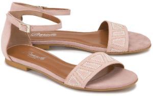 Sandalen mit Nietenbesatz in Untergroessen