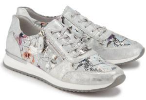 260c8099bc ... Sneaker in Uebergroessen mit seitlichem Flower-Print Silber Multicolor