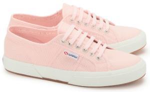 Superga Sneaker aus Canvas mit weisser Gummisohle in Uebergroessen Rosa