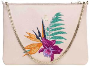 Tasche mit floraler Bestickung passend zu den Sabots von Pretty Ballerinas Nude