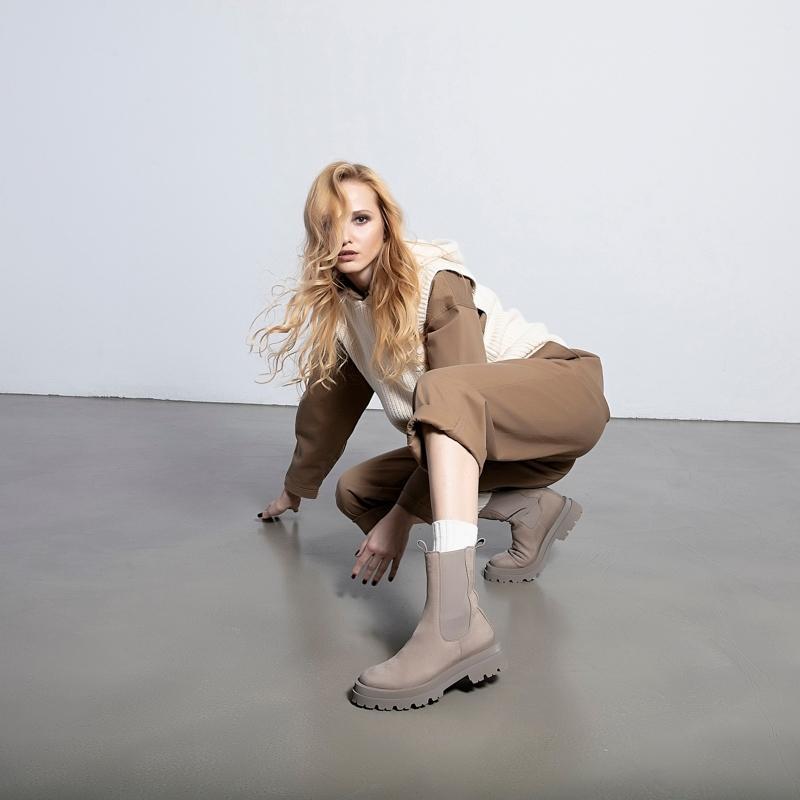 Chelsea Boots mit hohem Schaft