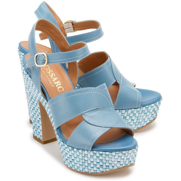 High-Heel Sandale in Übergrößen: 2648-11
